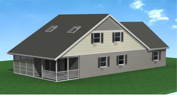 A 2nd Story Allows for 3-4 Bedrooms and Access to a Garage Attic Expansion