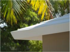 Concrete Roof with White Roll On Energy Efficient Protective Coating Reflects More of Suns Rays