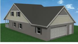 Garage Roof PItch Allows for Attic Storage or Additional Living Space!