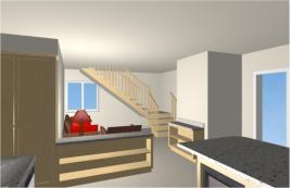Imagine A Window Seat and Storage Under the Stairway!