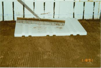 Once the Soil is Level We Lay Poly, then Foam, Before In-Floor Tubing and/or Concrete ...